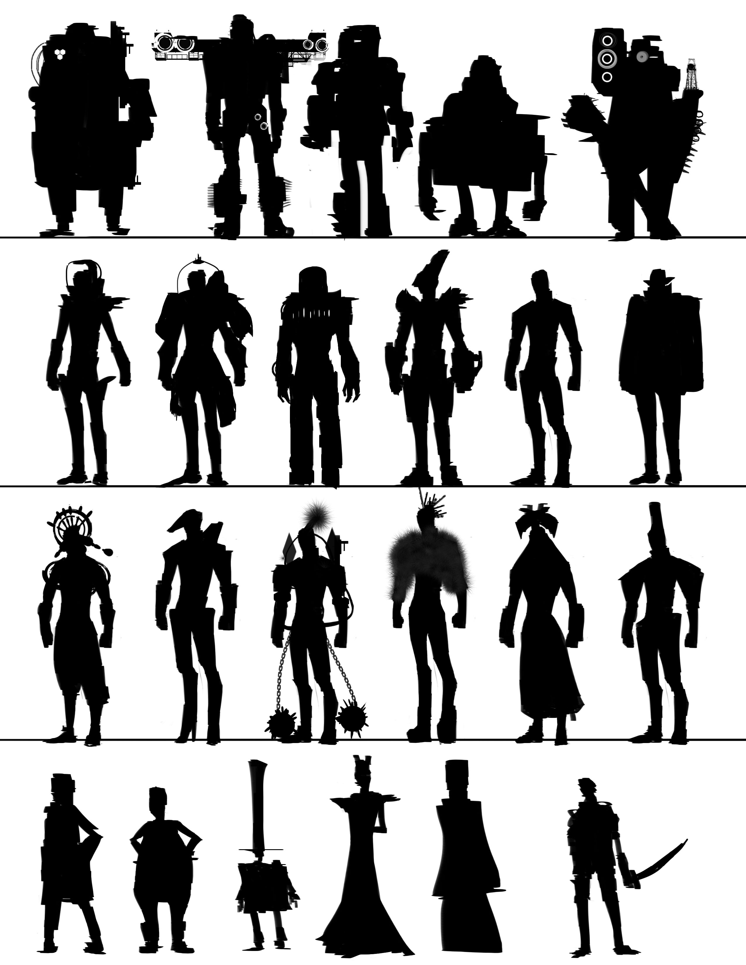 Character Design Silhouette Tutorial : Absolutely abe
