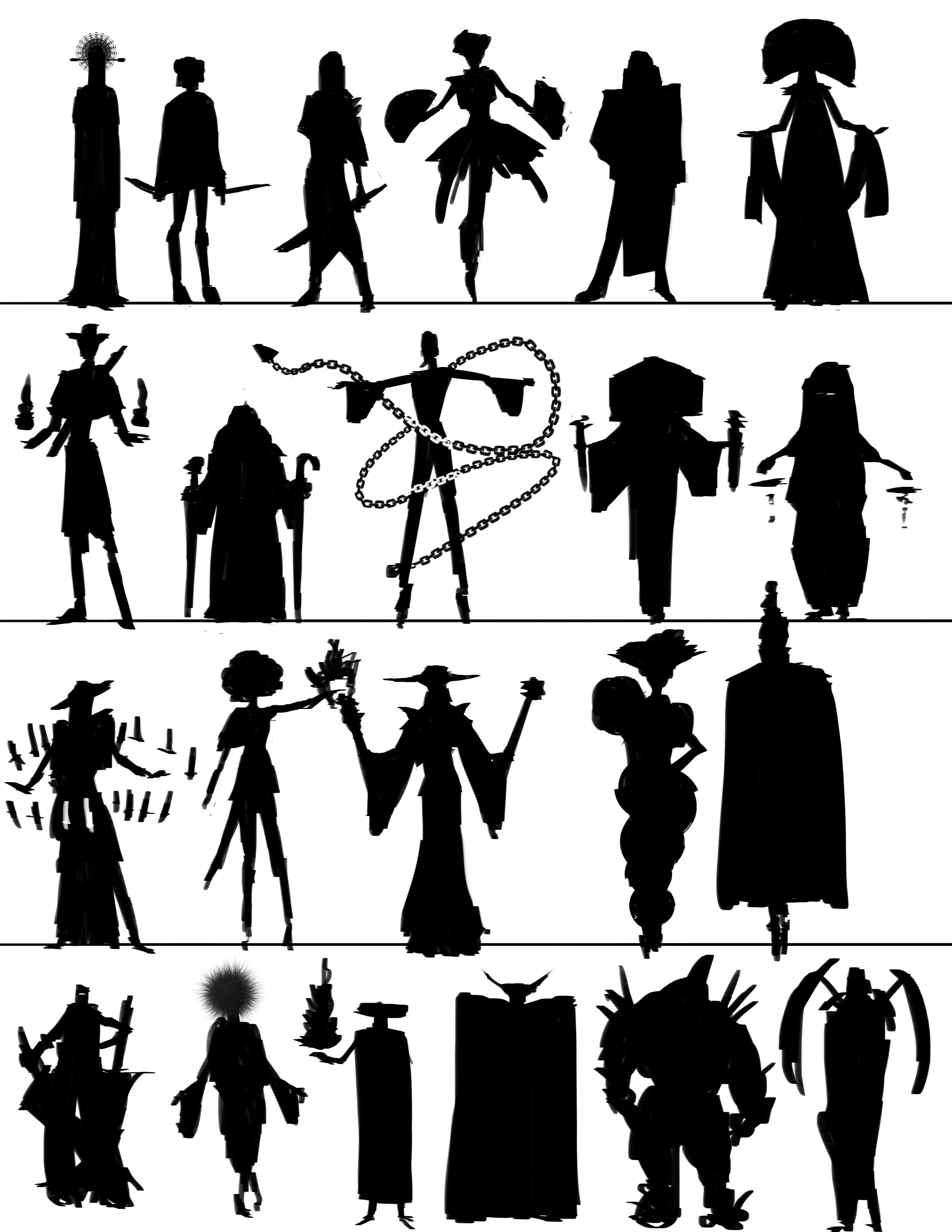Character Design Silhouette : Character design silhouette sketch absolutely abe