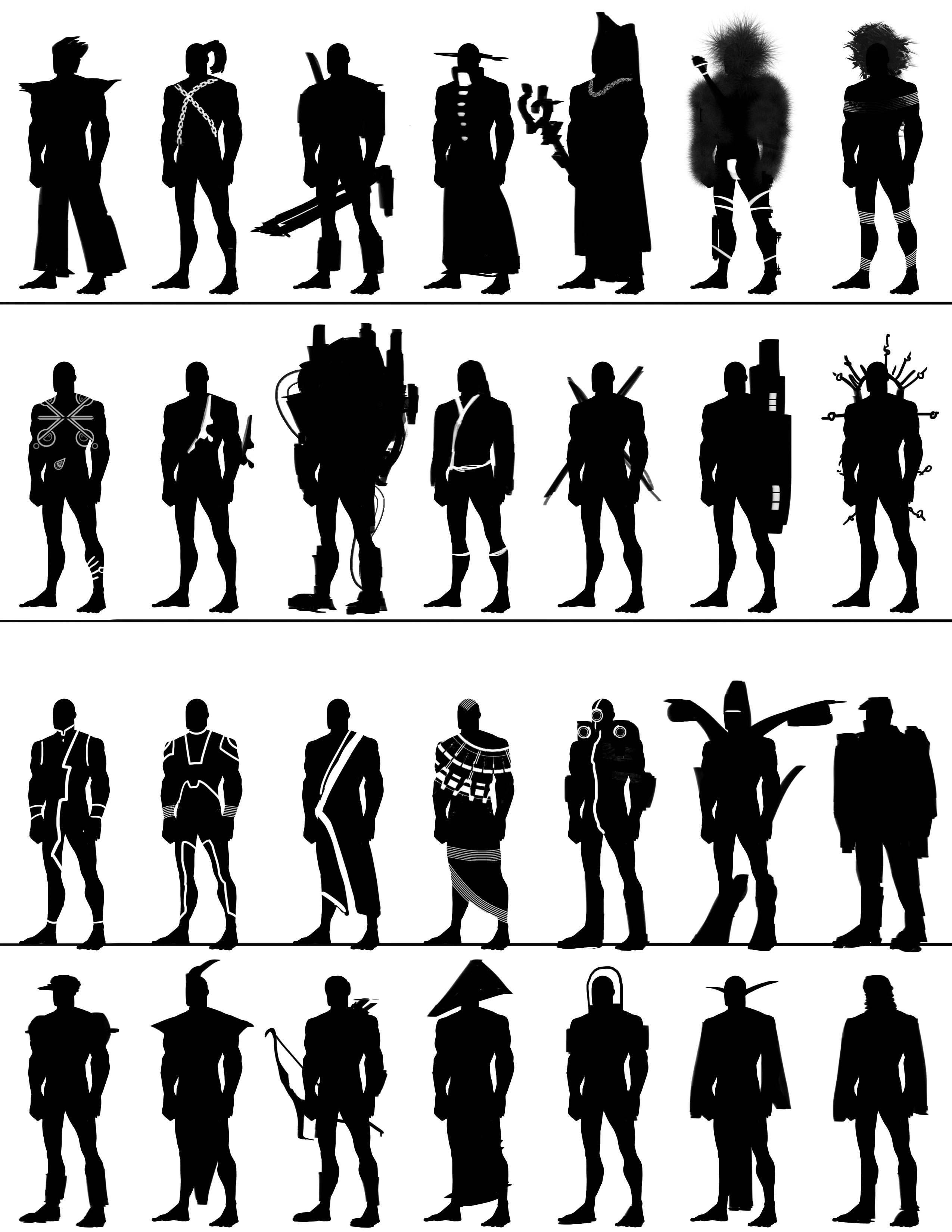 Character Design Silhouette Tutorial : Images about character design silhouette on