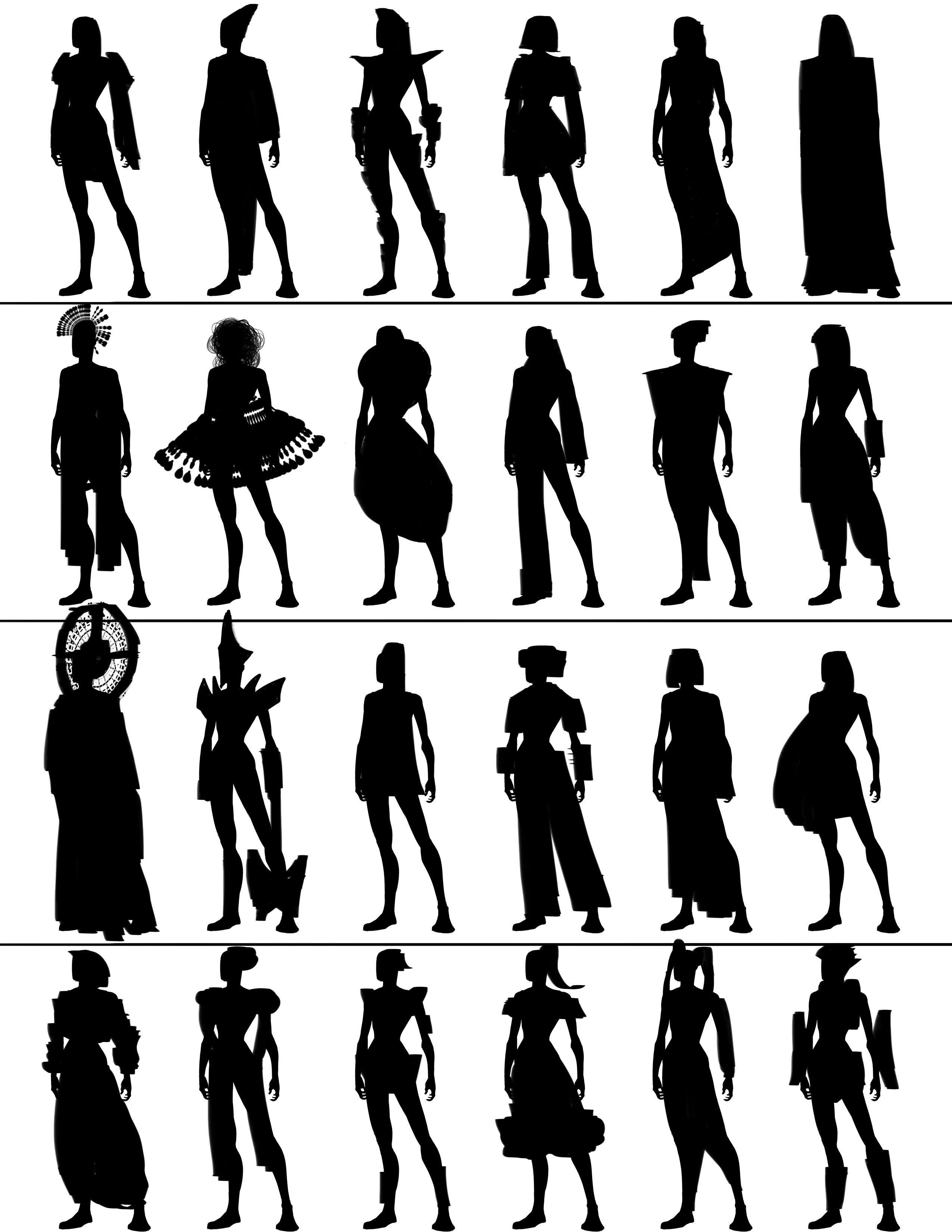 Character Design Silhouette Tutorial : Character design silhouette sketch absolutely abe